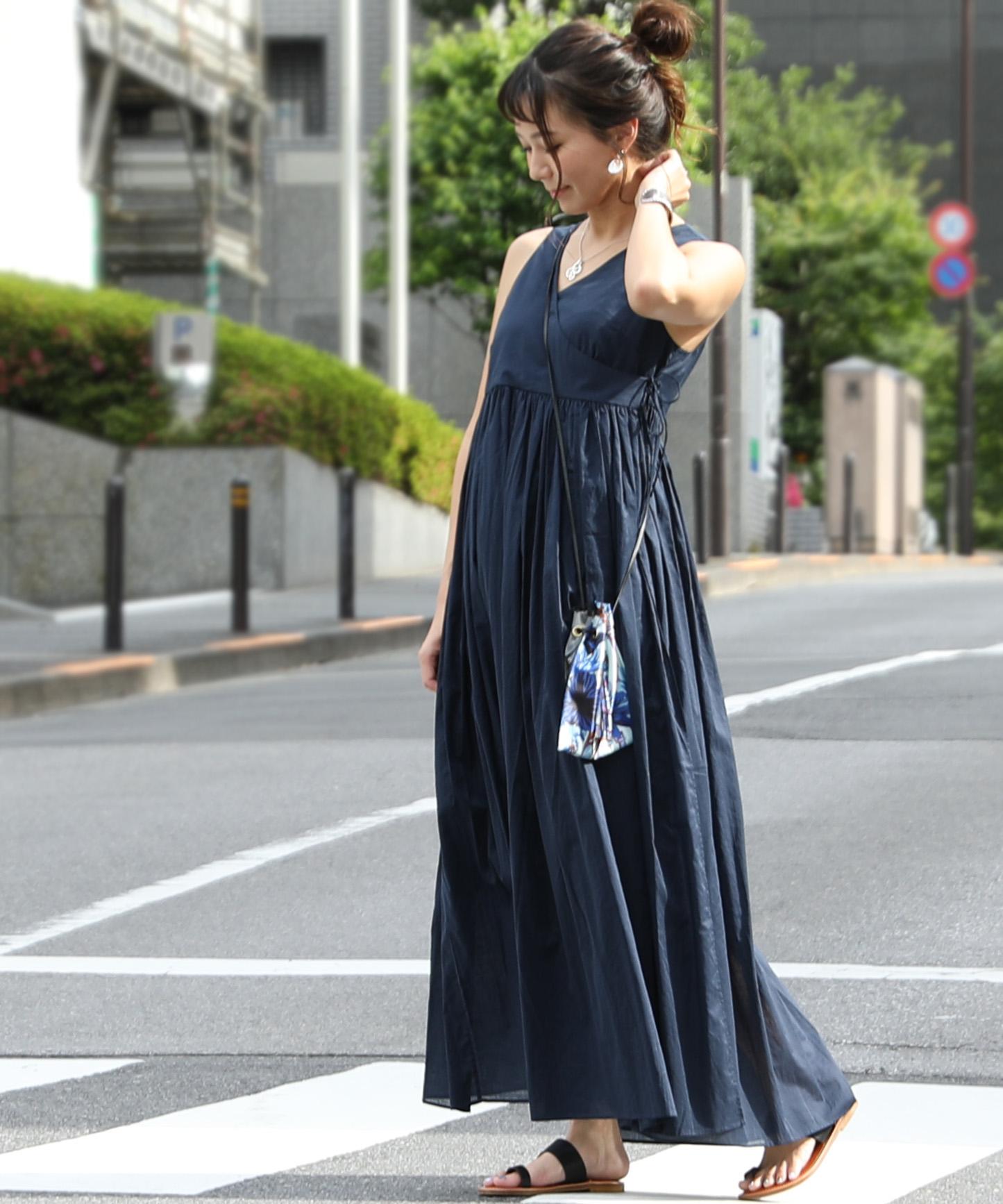 アメリカンラグシー AMERICAN RAG CIE / ギャザーVネックドレス Gathered Veeneck Dress