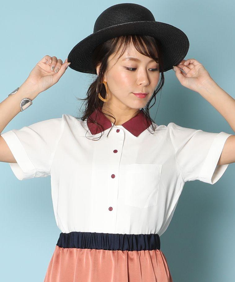 アメリカンラグシー AMERICAN RAG CIE / 2トーンオープンカラーシャツ 2 Tone Open Collar Shirt