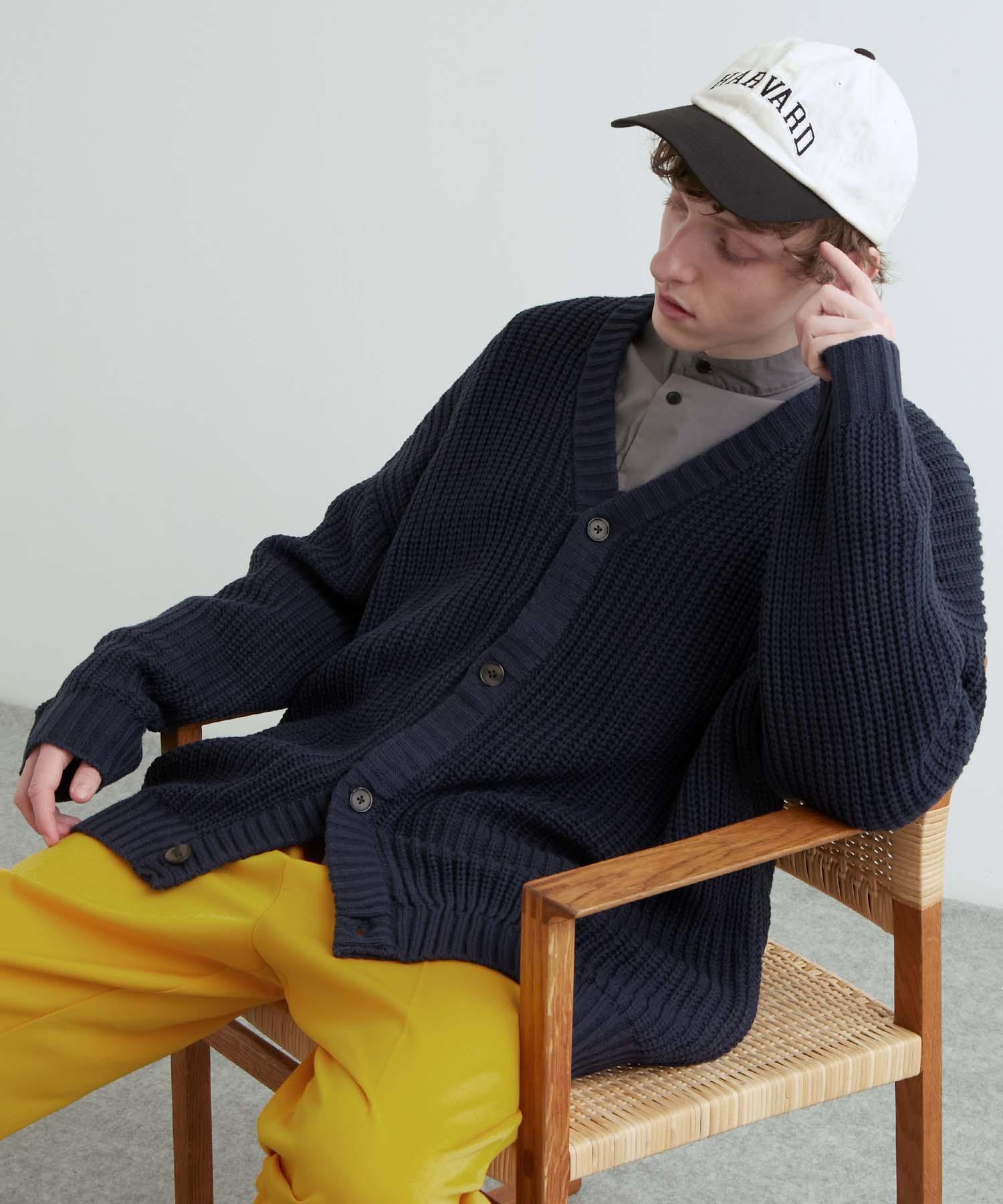 5G畦編みボリュームニット ルーズカーディガン 2021-2022WINTER(EMMA CLOTHES)