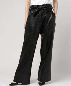【No.6】Fences Trouser Black Faux Leather