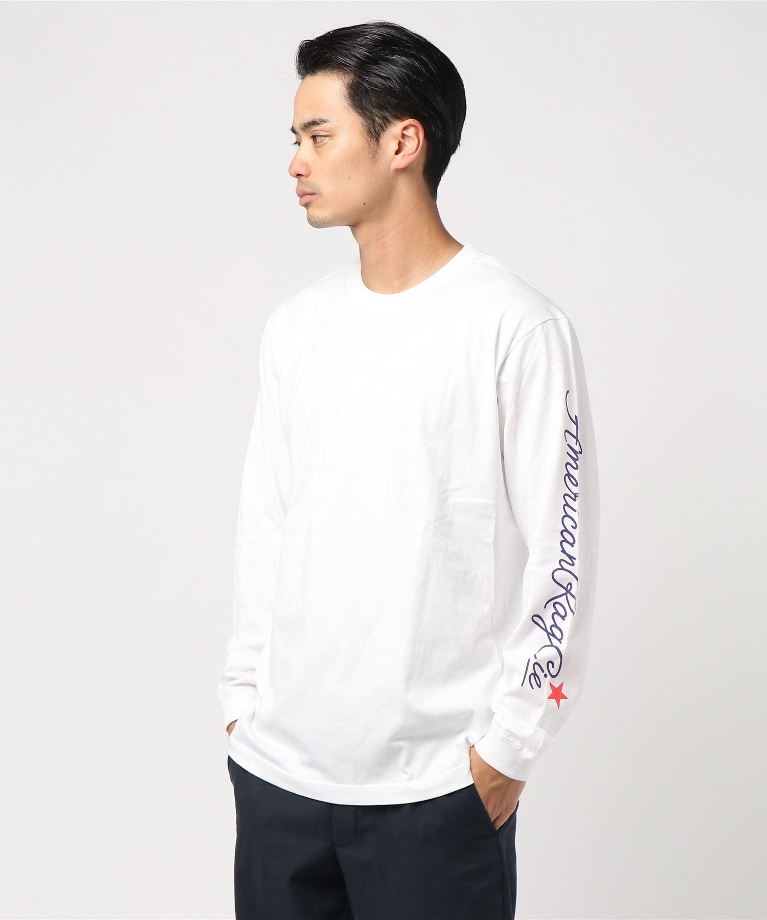 AMERICAN RAG CIE ARC Script Logo Print Longsleeve T Shirt/アメリカンラグシー ARCスクリプトロゴプリントロンT