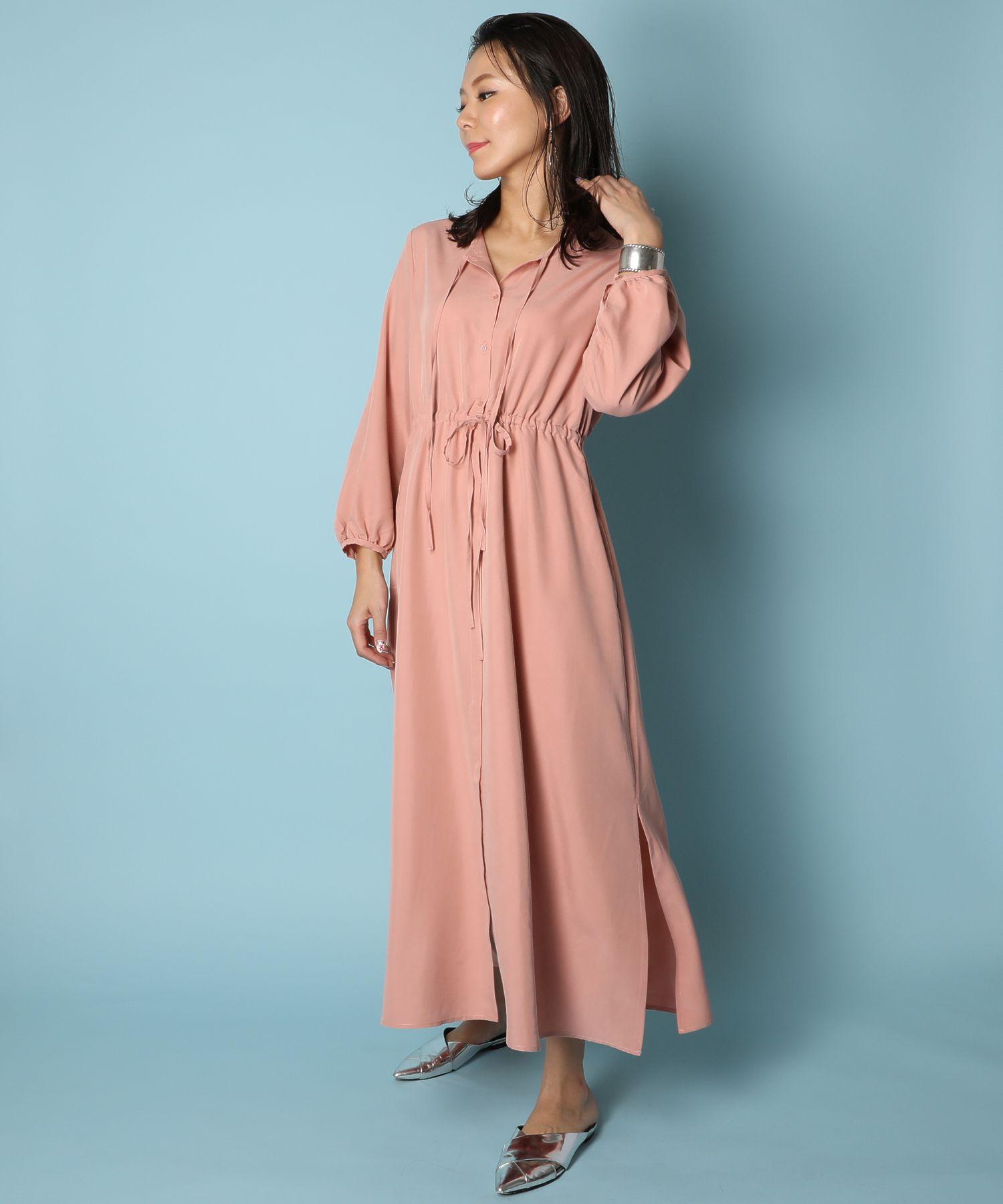 アメリカンラグシー AMERICAN RAG CIE / ウエストギャザーシャツドレス Waist Gathered Shirt Dress