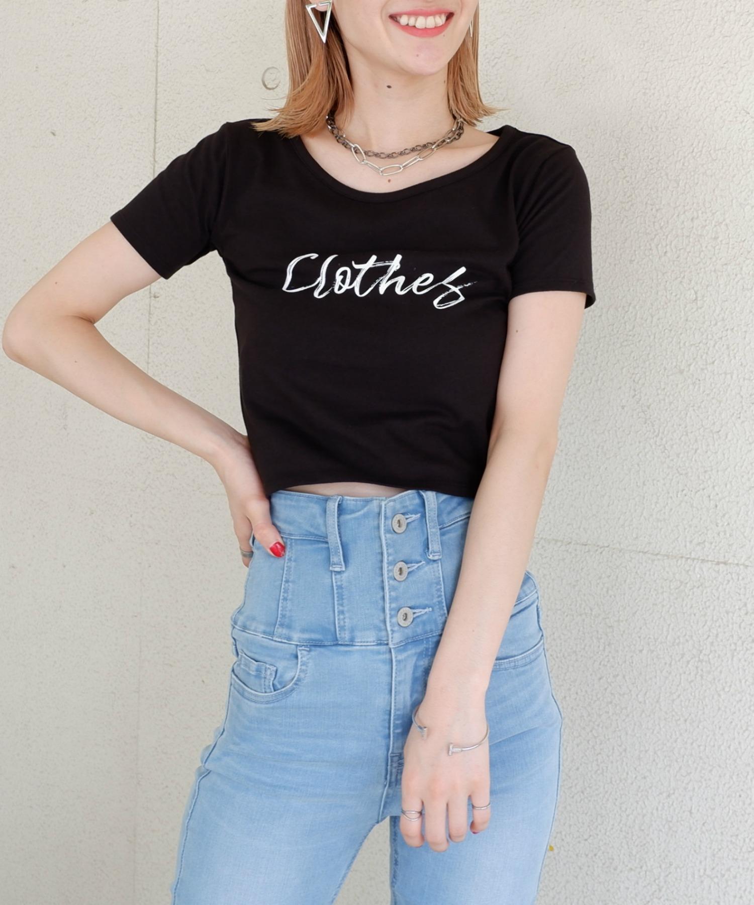 【ぴとさん着用】ロゴプリントちびTシャツ