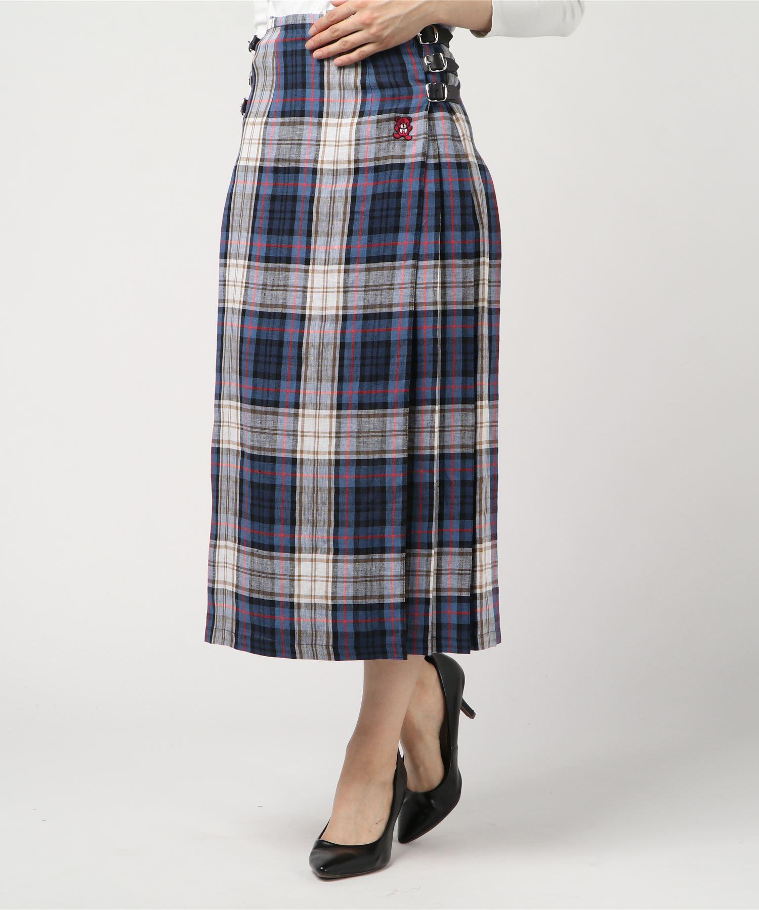 O'NEIL of DUBLIN HYS BEAR刺繍ロング巻きスカート