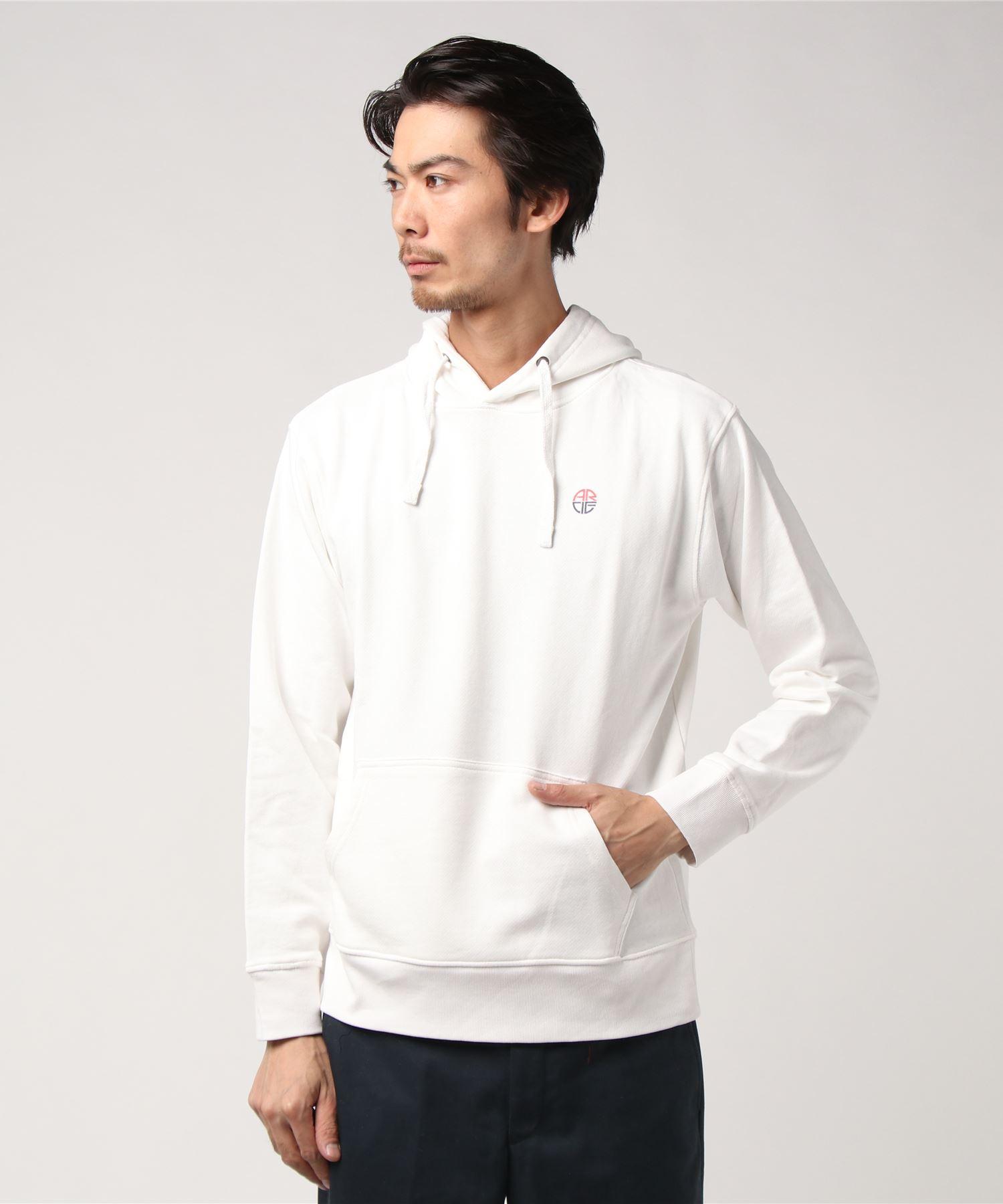 AMERICAN RAG CIE ARC Stencil Logo Print Hooded Sweatshirt/アメリカンラグシー ARCステンシルロゴプリントフードパーカ