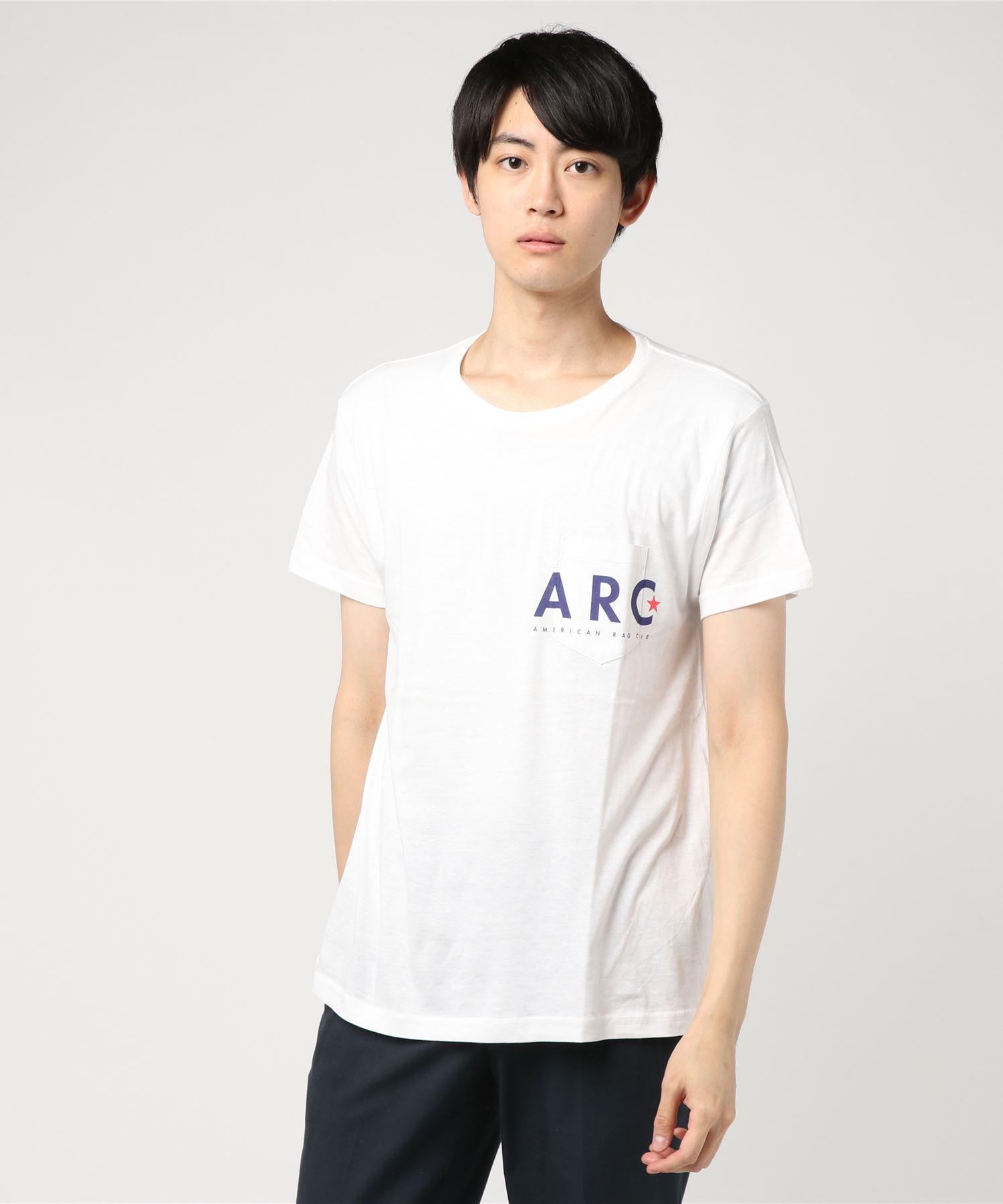 AMERICAN RAG CIE アメリカンラグシー / ARC Out Of The Box Simple Logo Print Pocket T Shirt ARCはみ出しシンプルロゴプリント1ポケT
