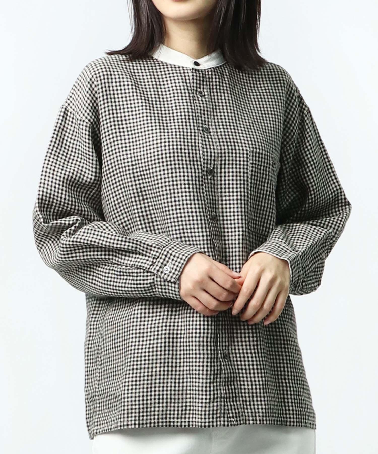 【 HEAVENLY / ヘヴンリー 】Linen Cleric BandCollar Shirt 2147082