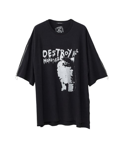 DESTROY ALL MONSTERS/CAT オーバーサイズTシャツ