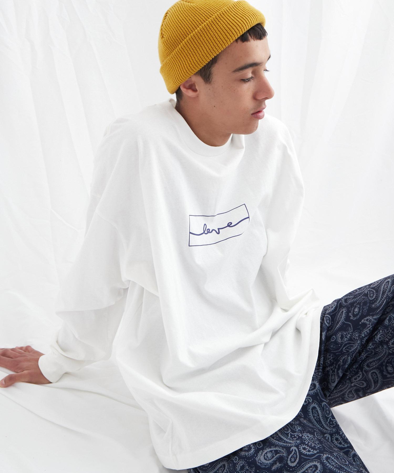 ビッグシルエット コットン天竺イラストデザインL/Sカットソー(EMMA CLOTHES - love/yourself by moving)