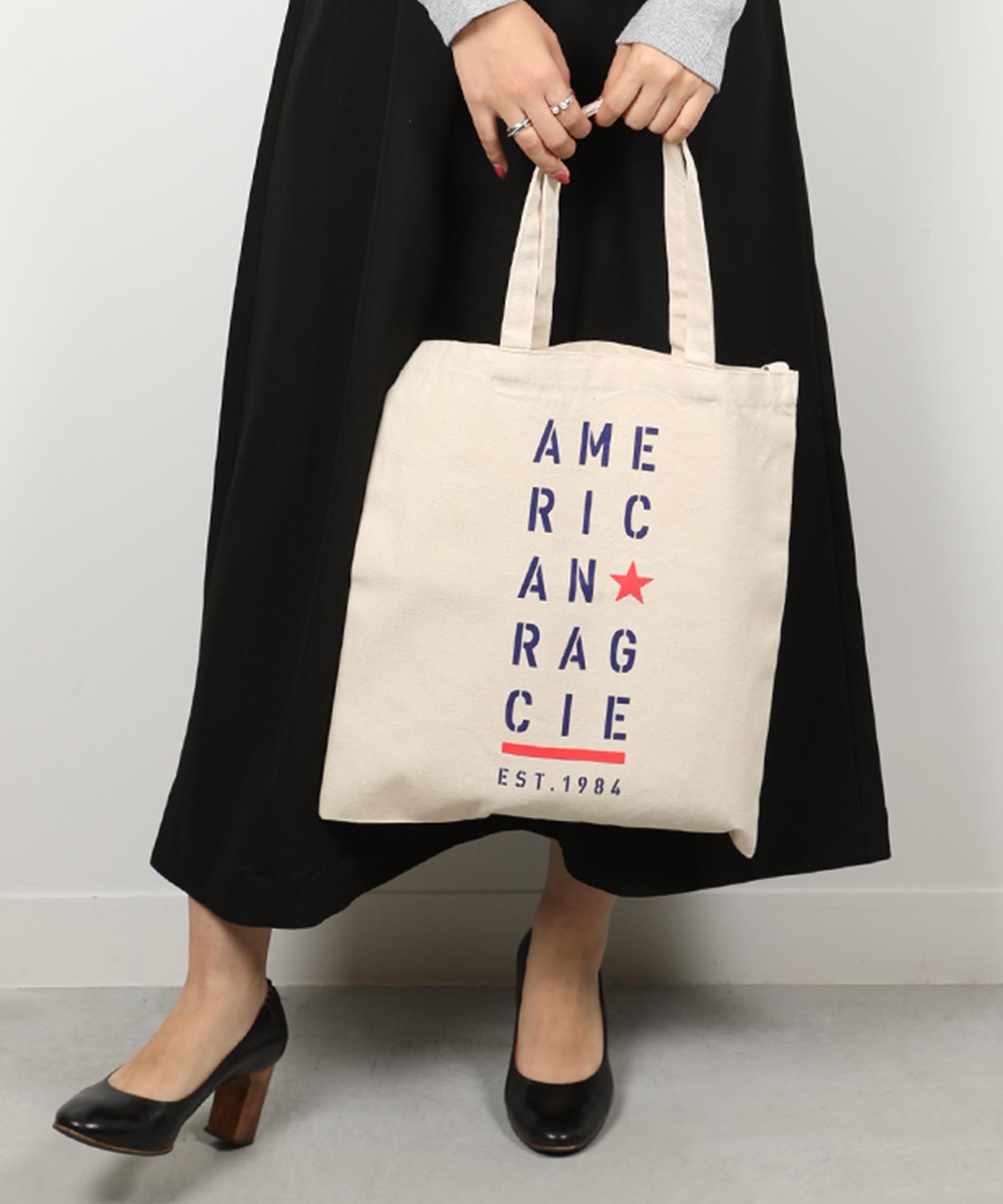 AMERICAN RAG CIE ARC Stencil Logo Print Cotton Canvas 2way Totebag/アメリカンラグシー ARCステンシルロゴプリント2WAYコットンキャンバストート