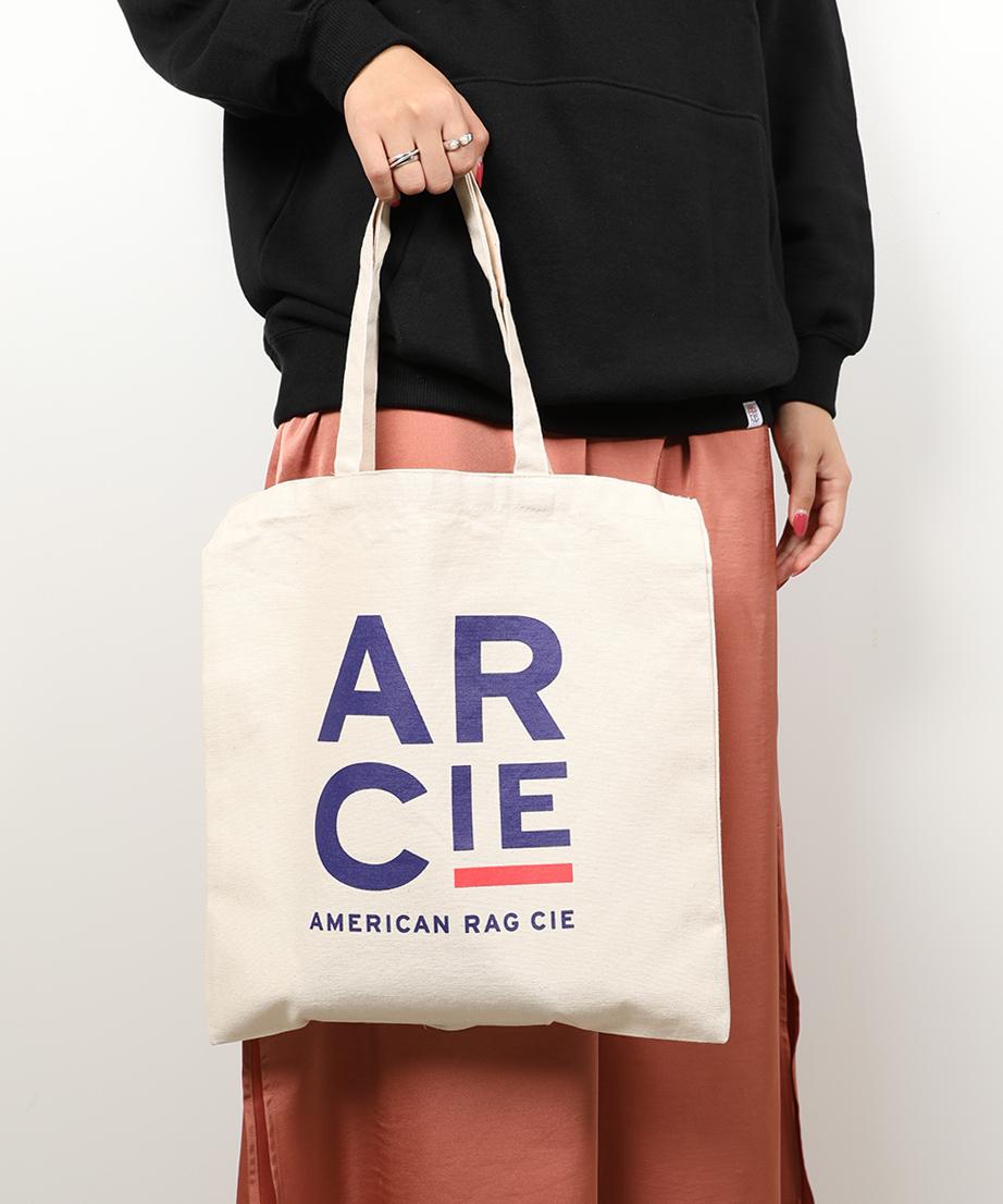 AMERICAN RAG CIE ARC Block Logo Print Cotton Canvas 2way Totebag/アメリカンラグシー ARCブロックロゴプリント2WAYコットンキャンバストート