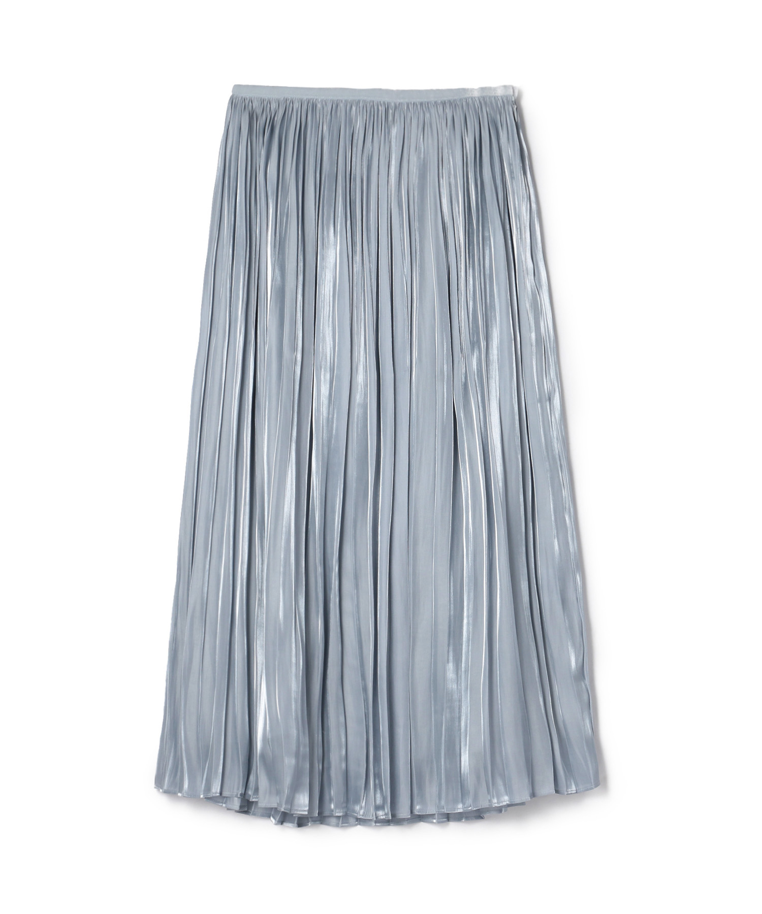 ESTNATION オーガンジーサテンプリーツスカート
