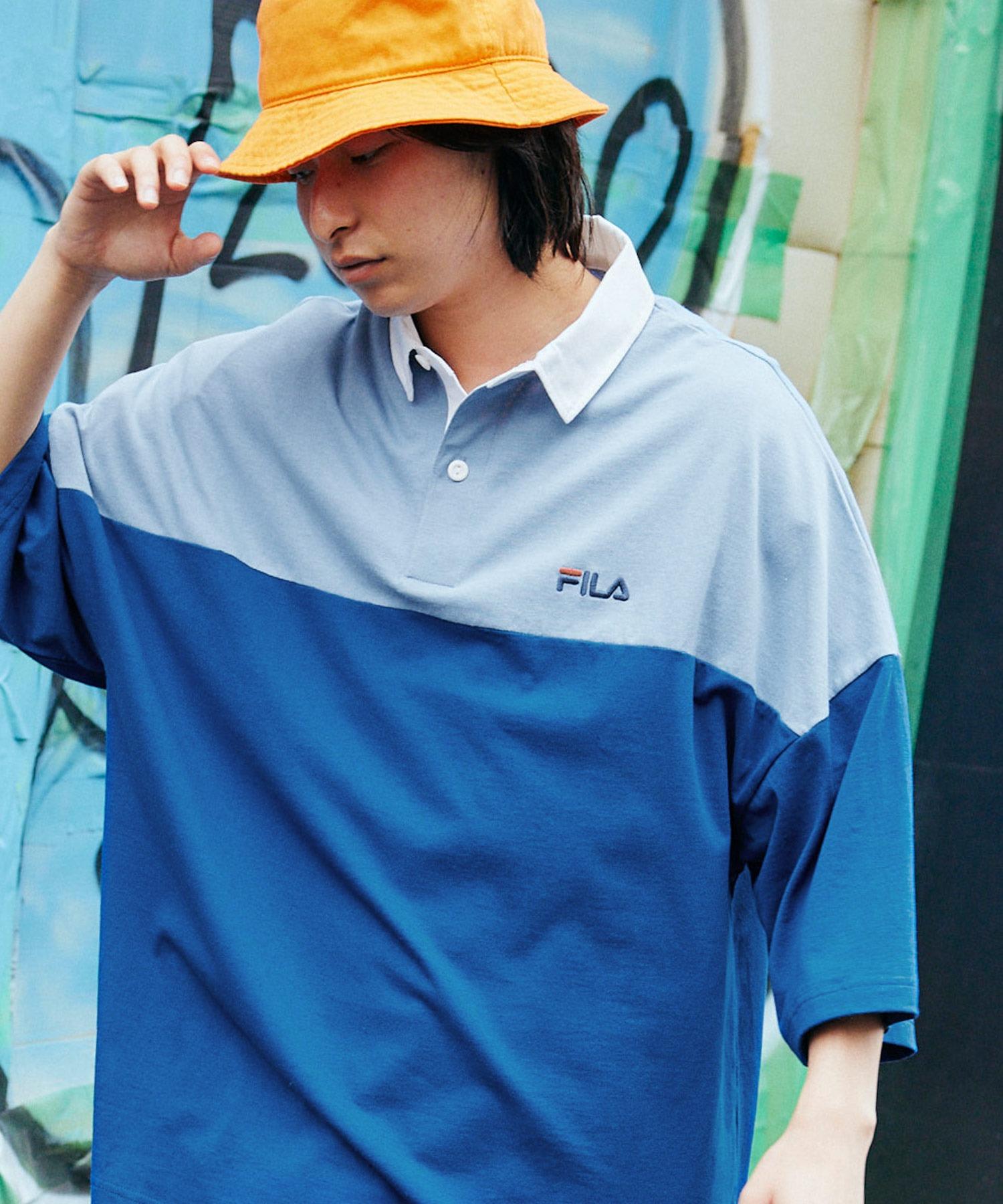 FILA/フィラ ビッグシルエットワンポイント刺繍半袖ラガーシャツ