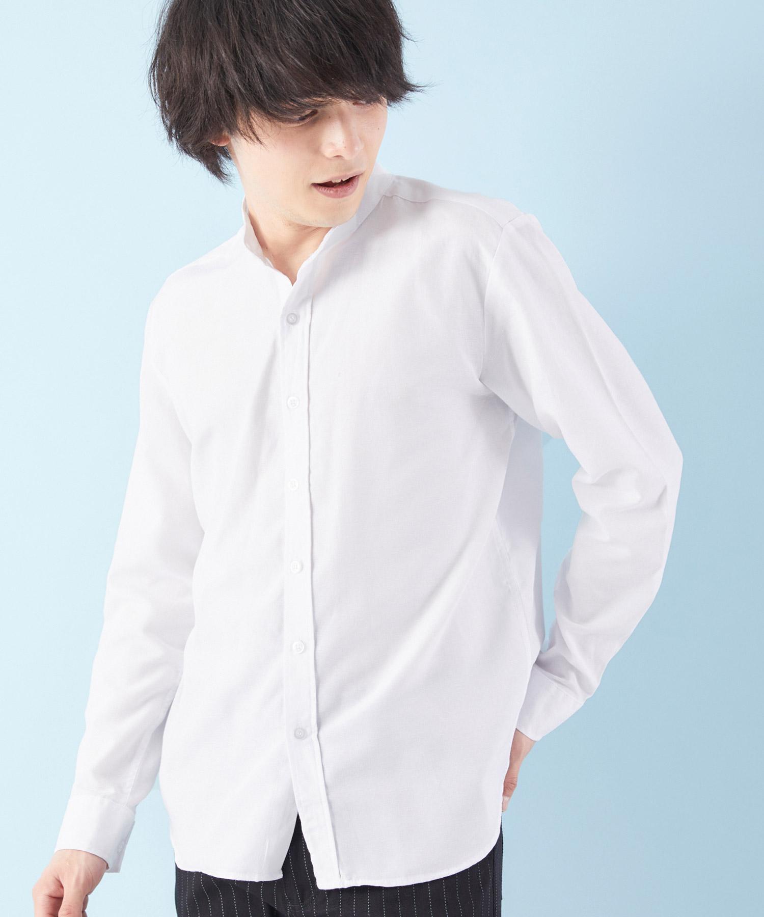 オックスフォードバンドカラーシャツ L/S