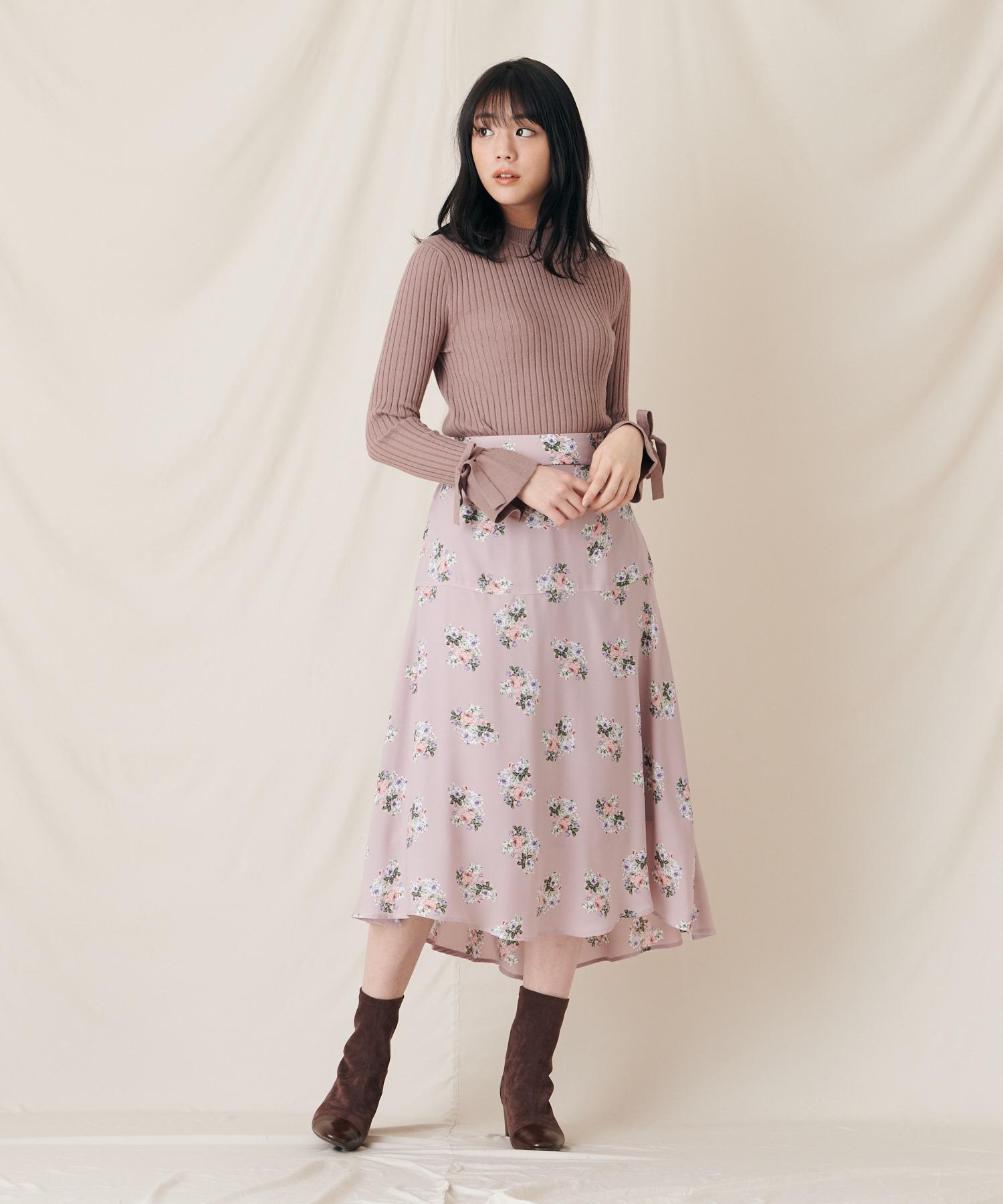 【貴島明日香さんコラボアイテム】ローズブーケスカート