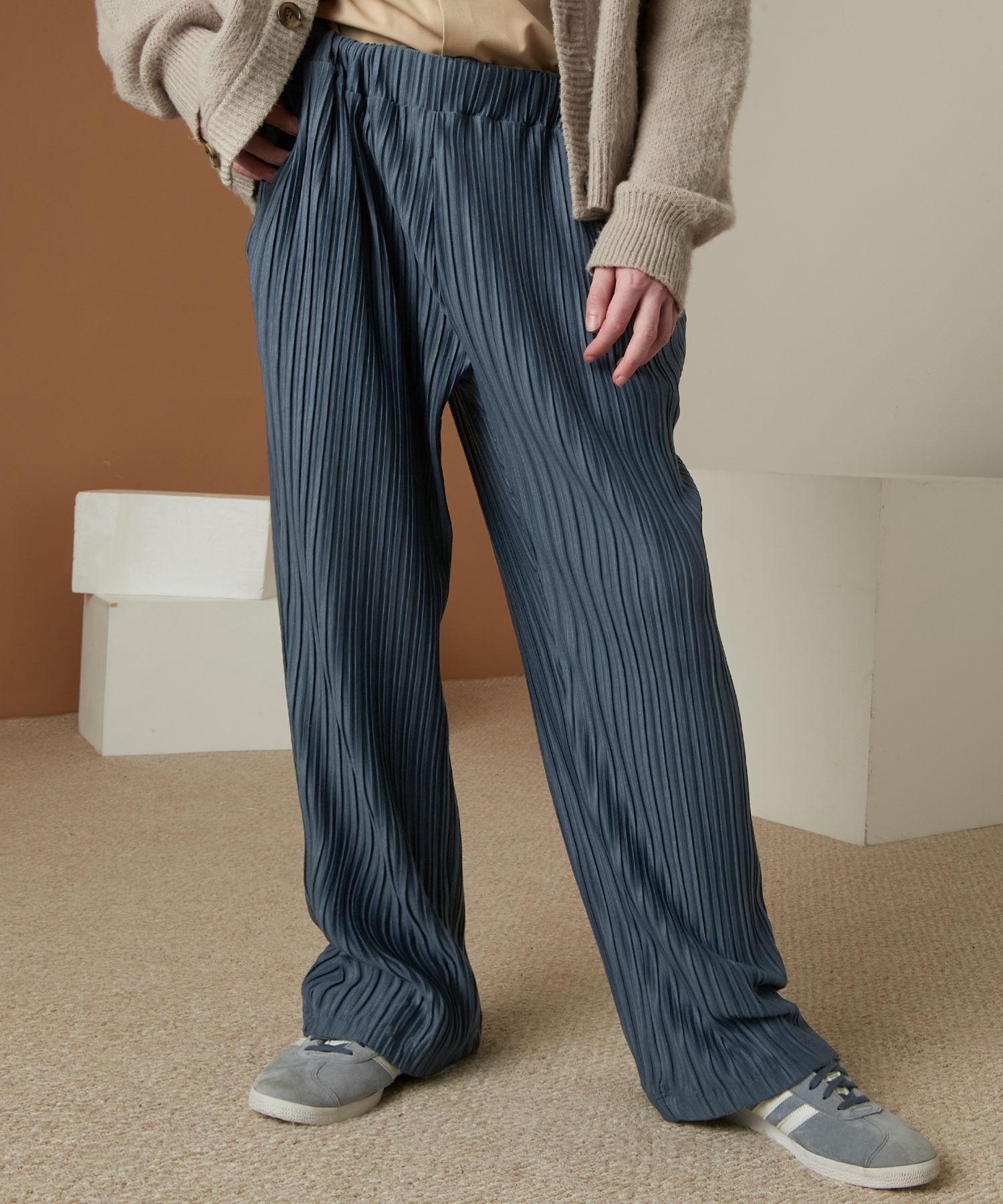 プリーツワイドテーパードリラックスイージーパンツ/ワイドパンツ ワンマイルウェア EMMA CLOTHES 2021SS