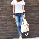 PONTE(ポンテ)のファッションまとめ「やっぱりシンプルが1番!!定番カラーのTシャツでつくるカジュアルコーデ☆」