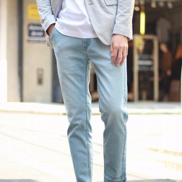 7ad74fb528eda5 Smartlog(スマートログ)のファッションまとめ「デニムパンツのおしゃれなメンズコーデ。