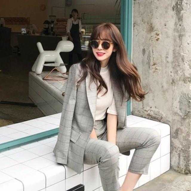 LAURIER PRESS(ローリエ プレス)のファッションまとめ「今秋はグレンチェックがトレンド♡ マネしたくなるオジかわコーデ」