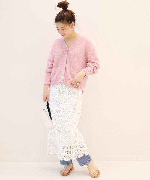 dffd2160f0599c ピンクカーディガンのトレンドコーデ特集♡大人女子も春らしいカラーを ...