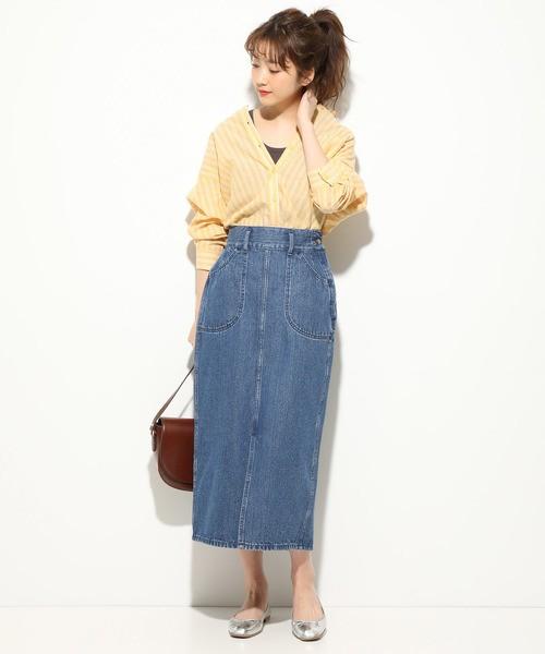 dd7f2284ba176 黄色トップスの夏コーデ特集♪大人ファッションを華やかにするアクセント ...
