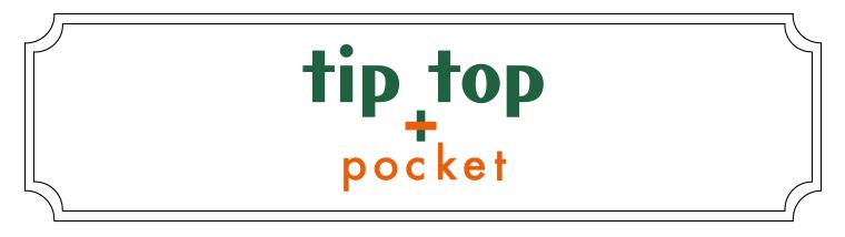 tiptop+pocket(ティップトッププラスポケット)