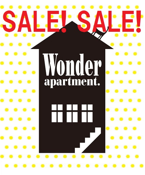 b5a2558d3c5b5d Wonder apartment(ワンダーアパートメント)のショップニュース「TIME SALE☆本日スタート!