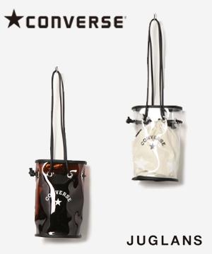 JUGLANS(ユグランス)のショップニュース「【CONVERSE】トレンドのクリア素材を使ったショルダーバッグです。」