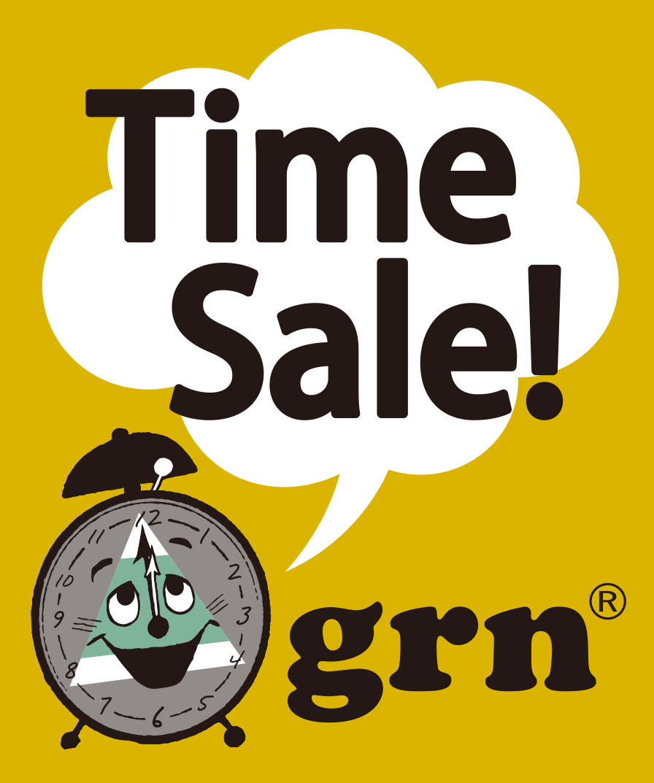 grn(ジーアールエヌ)のショップニュース「【grn】春物タイムセール!!」