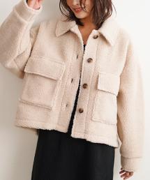 Futierland&SASA(フューティアランド&ササ)のショップニュース「◆トレンドのボアジャケットが新登場です◆【ワイドボアCPOジャケット】」