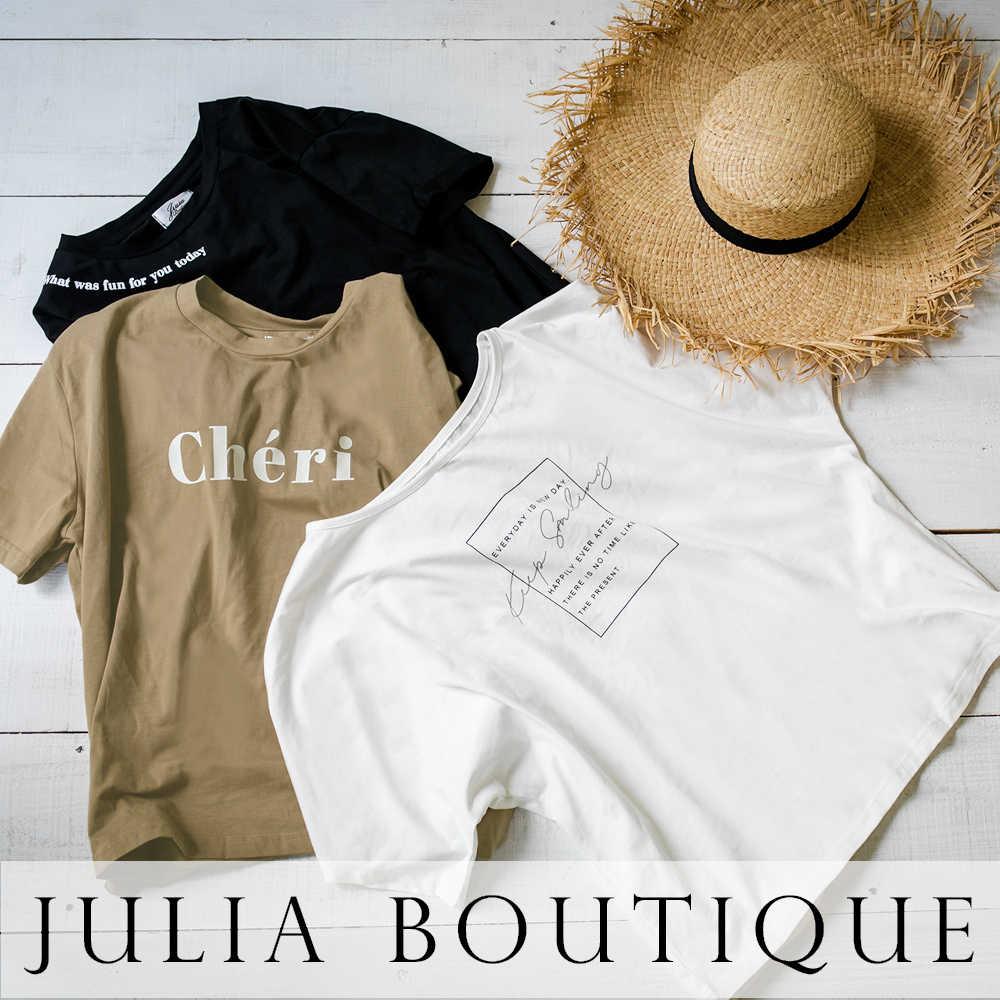 JULIA BOUTIQUE(ジュリアブティック)のショップニュース「【特集】何枚でも持っておきたい!プリントTシャツ・デザインカットソー。」