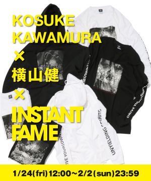 Gifted Society(ギフテッド ソサエティ)のショップニュース「【INSTANT FAME×横山健×KOSUKE KAWAMURA】 限定コラボ商品発表 !」