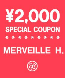 MERVEILLE H.(メルベイユアッシュ)のショップニュース「【2,000円クーポン】本日限定!」